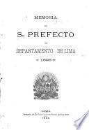 Memoria del sr. prefecto del departamento de Lima 1898
