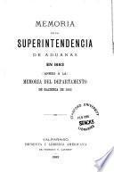 Memoria del Superintendente de Aduanas sobre la renta y el comercio exterior
