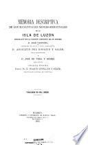 Memoria descriptiva de los manantiales minero-medicinales de la isla de Luzón