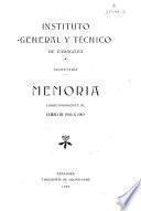 Memoria estadística del Instituto de Segunda Enseñanza de Zaragoza en el año académico de...