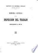 Memoria general de la inspección del trabajo ...