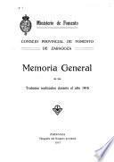 Memoria general de los trabajos realizados durante el año 1916