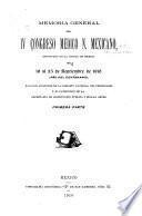Memoria general del IV Congreso Medico N. Mexicano