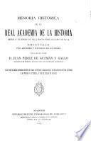 Memoria histórica de la Real Academia de la Historia