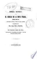 Memoria histórica sobre el arreglo de la Deuda Pública hecho en 1851...