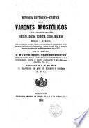 Memoria histórico-crítica de los varones apostólicos, o sea, los santos españoles