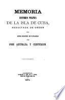 Memoria historico politica de la isla de Cuba