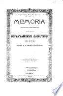 Memoria instructiva y documentada que el jefe del departamento ejecutivo del estado, presenta al ... congreso constitucional