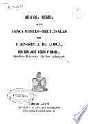 Memoria médica de los baños minero-medicinales de Fuen-santa de Lorca