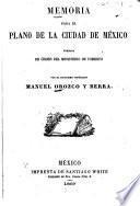 Memoria para el plano de la cuidad de México