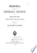 Memoria presentada al Honorable Congreso por el Ministerio de Guerra y Marina