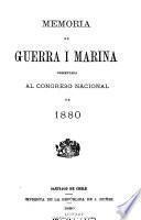 Memoria que el Ministro de Estado en el Departamento de Guerra presenta al Congreso Nacional de ...