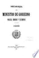 Memoria que el Ministro de Gobierno y Policia presenta al Congreso Ordinario de ...