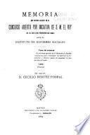 Memoria que obtuvo accésit en el concurso abierto por iniciativa de S. M. el rey (R. O. de 6 de febrero de 1903)