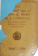 Memoria que presenta al Congreso de ... el Ministro de Hacienda y Comercio