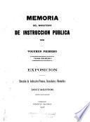 Memoria que presenta el Ministro de Instrucción Pública al Congreso de los Estados Unidos de Venezuela
