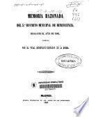 Memoria razonada del 5 ?distrito municipal de beneficencia durante el año de 1862 formada por el vocal secretario-contador de la misma