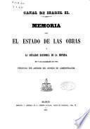 Memoria sobre el estado de las obras y la situación económica de la empresa en 31 de diciembre de 1860