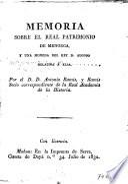 Memoria sobre el Real Patrimonio de Menoria y una moneda del rep. D. Alonso relativa a ella