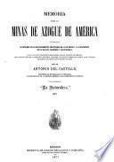 Memoria sobre las minas de azogue de América