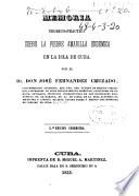 Memoria teórico-práctica sobre la fiebre amarilla endémica en la isla de Cuba