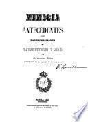 Memoria y antecedentes sobre las espediciones de Balanguingui y Joló