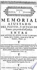 Memorial ajustado del pleyto, y juycio de Tenuta, que pende en el Consejo entre don Antonio de Aponte Ulloa y Carvajal Paredes Roi y Guzmàn ... y don Pedro Joseph Topete, como marido de ... Isabel de Aponte Ulloa Carvajal Paredes y Guzman ... y por muerte de la referida, como padre, y ... administrador de ... Joachin Topete Ulloa Carvajal Paredes Cordova y Guzman ... y ... Fernando de Aponte y Neyra ... y ... Fernando de Aponte Ulloa y Carvajal ...