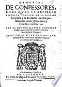 Memorial de Confessores, etc