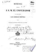 Memorial del ministro de Fomento L. Robles Pezuela