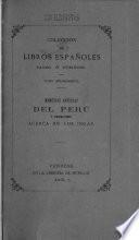 Memorias antiguas historiales y politicas del Perú