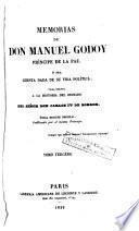 Memorias de don Manuel Godoy, Príncipe de la Paz, ó sea cuenta dada de su vida política, para servir a la historia del reinado del señor don Carlos IV de Borbón, 3