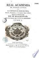 Memorias de la Academia de Buenas Letras de Barcelona