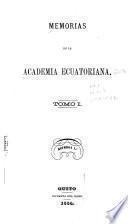 Memorias de la Academia Ecuatoriana correspondiente de la Española