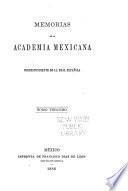 Memorias de la Academia Mexicana