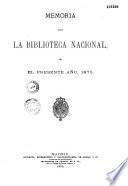 Memorias de la Biblioteca Nacional