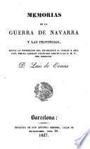 Memorias de la guerra de Navarra y las provincias