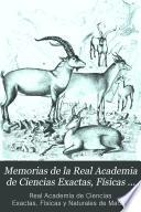 Memorias de la Real Academia de Ciencias Exactas, Físicas y Naturales de Madrid