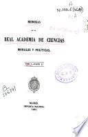 Memorias de la Real Academia de Ciencias Morales y Políticas