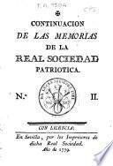 Memorias de la Real Sociedad Patriotica de Sevilla