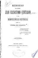 Memorias del coronel Juan Crisóstomo Centurión