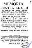 Memorias del Dr. Don Jayme Menós, y de Llena ... Tom. I.