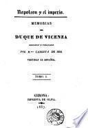 Memorias del Duque de Vicenza