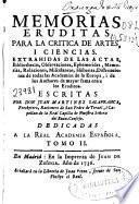 Memorias eruditas para la critica de artes, y ciencias