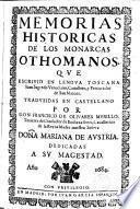 Memorias históricas de los monarcas othomanos