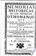 Memorias historicas de los monarcas othomanos