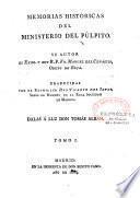 Memorias historicas del Ministerio del Pulpito