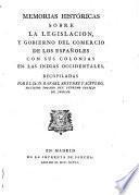 Memorias históricos sobre la legislacion,