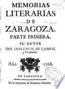 Memorias literarias de Zaragoza