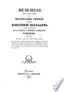 Memorias para ayudar a formar un diccionario crítico de escritores catalanes