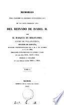 Memorias para escribir la historia contemporánea de los siete primeros años del reinado de Isabel ii